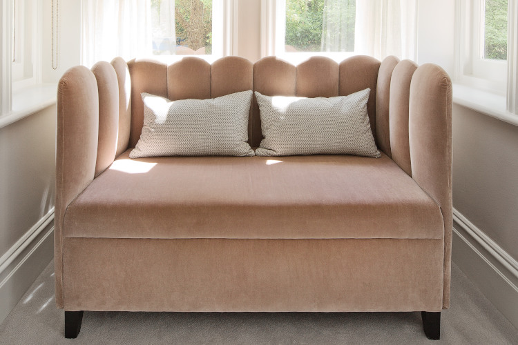 Decorative Schemes - How We Work - Soft Pink Sofa