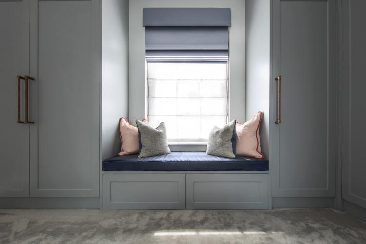 Dressing room design - window seat and vista